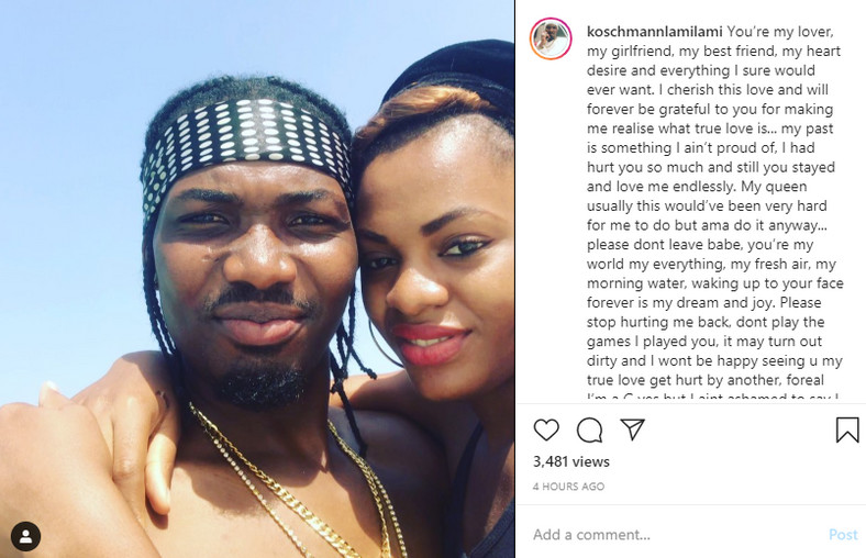 This latest development is coming a few weeks after Lami had taken to his Instagram page to pen down an apology letter to Jackye. [LindaIkeji]