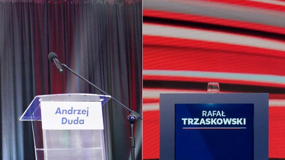Puste miejsca dla Andrzeja Dudy (Leszno) i Rafała Trzaskowskiego (Końskie)