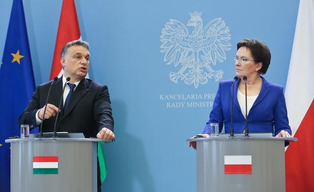 Premier Ewa Kopacz i szef węgierskiego rządu Viktor Orban