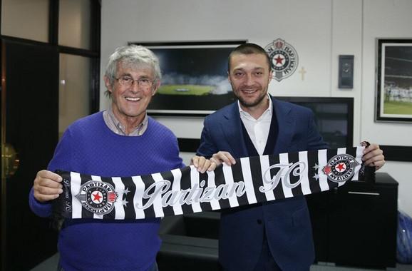 Bora Milutinović i sportski direktor FK Partizan Ivica Iliev