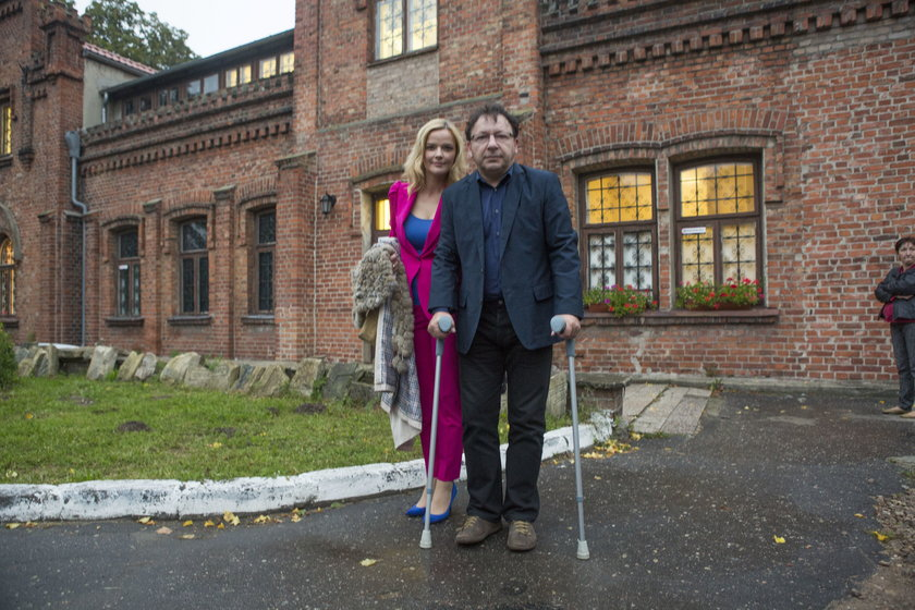 Monika i Zbigniew Zamachowscy w Brzezinach