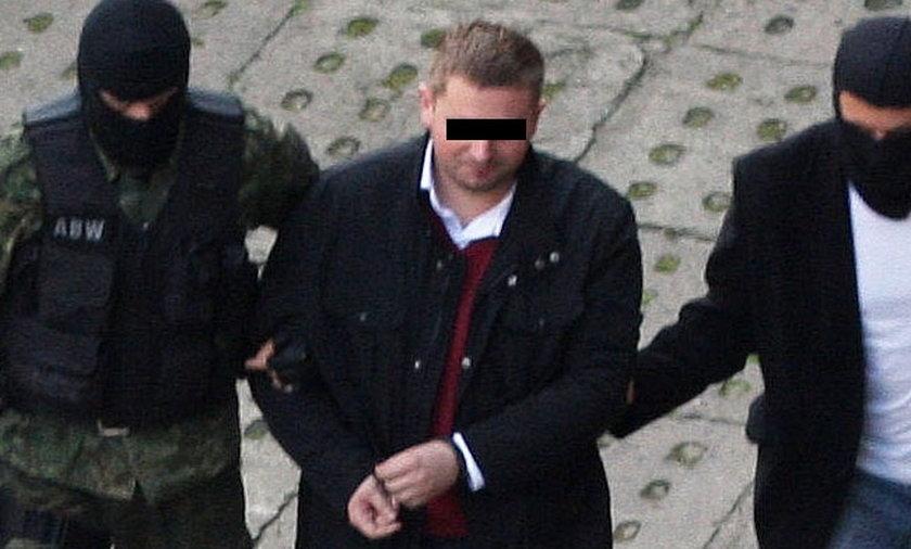 Marcin Plichta dowieziony do sądu