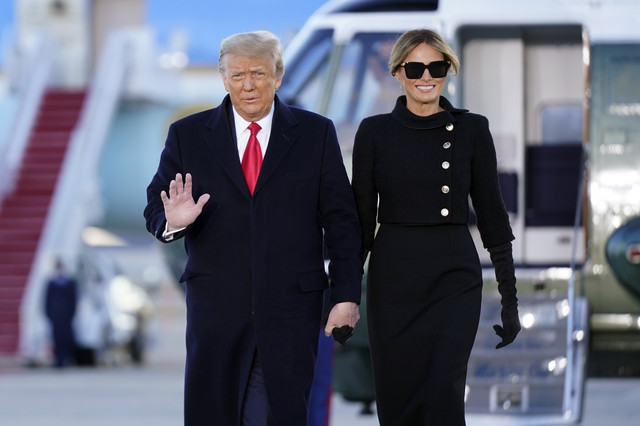 Donald i melanija Tramp u bazi Endrjuz