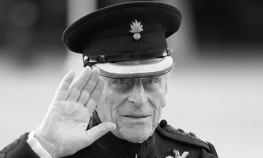 FILE PHOTO: Britain's Prince Philip arrives on the eve of his birthday to take the salute of the Hou
