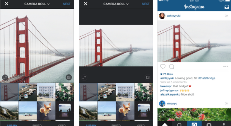 Instagram began to allow full size pictures a few weeks ago.