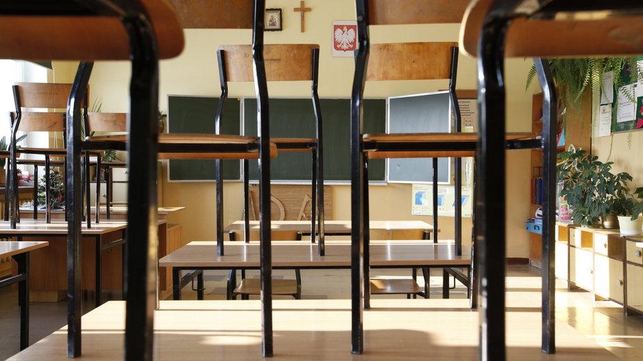 Jedna z sal w szkole w Gródku