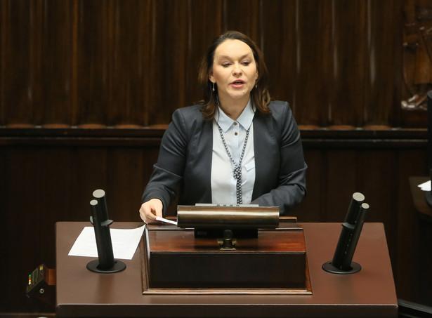 Wystąpienie wiceprzewodniczącej klubu PSL Andżeliki Możdżanowskiej podczas posiedzenia Sejmu,