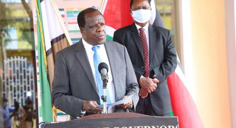 Council of Governors Chairperson Wycliffe Oparanya