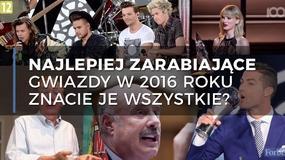 Najlepiej zarabiające gwiazdy w 2016 roku