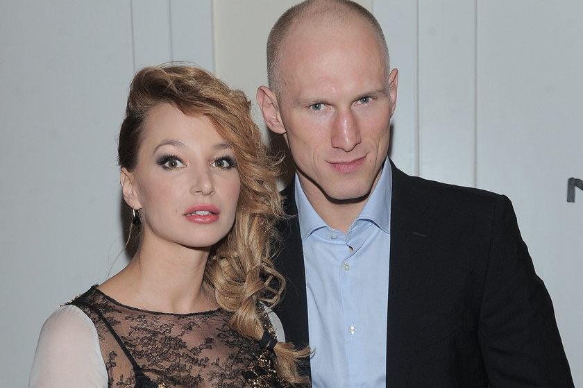 Krzysztof Diablo Włodarczyk z żoną