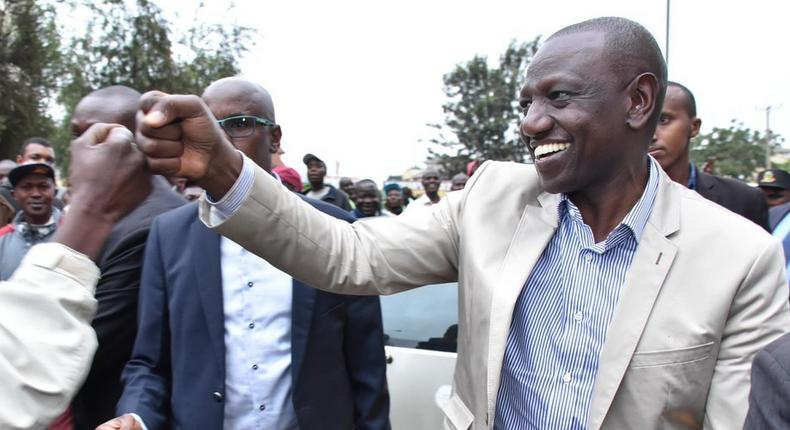 DP William Ruto interacts with Nairobi residents. His office has received an additional Sh50 million for foreign travel (Twitter)