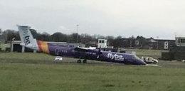 Samolot lądował bez przedniego koła. Na pokładzie było niemowlę