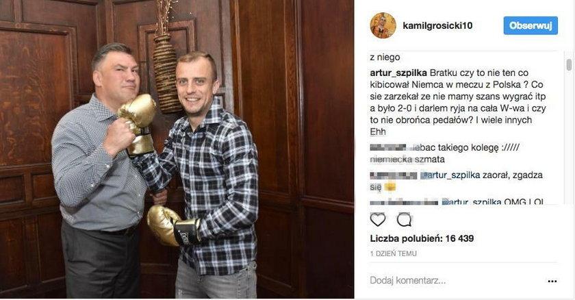 Artur Szpilka zaatakował Kamila Grosickiego. To przez Michalczewskiego