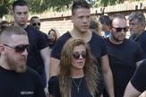 Kija Kockar, sahrana oca