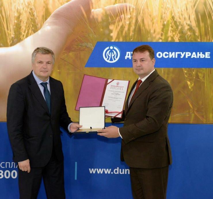 D Novosadski sajam -  nagrada Dunav osiguranju za dugogodišnju uspešnu saradnju