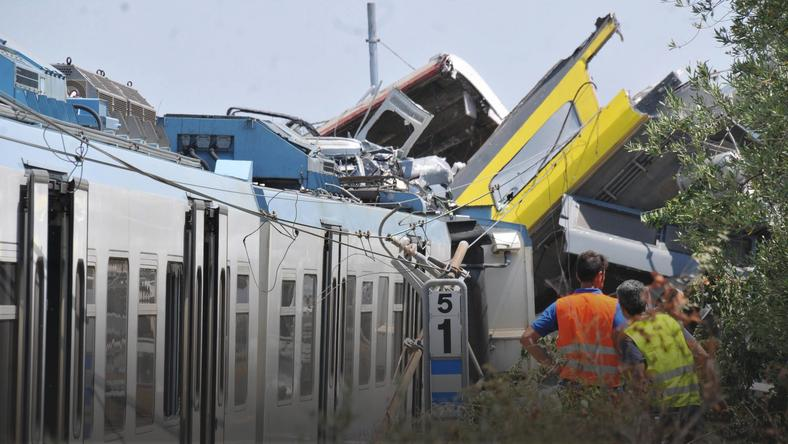 ITALY TRAIN CRASH (At least 20 dead as two trains collide in southern Italy)