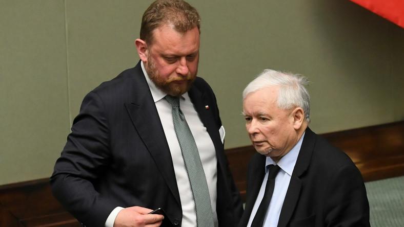 Łukasz Szumowski i Jarosław Kaczyński