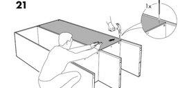 Kuriozalne instrukcje z Ikei. Czy to naprawdę uszczęśliwia?
