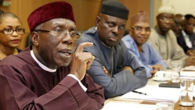 Chief Audu Ogbe and other members of the Arewa Consultative Forum, (The Cable)