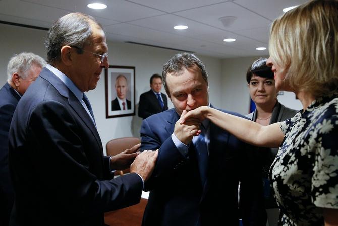 Sergej Lavrov, ministrah spoljnih poslova Rusije, Ivica Dačić, ministar spoljnih poslova Srbije, i Marija Zaharova, direktorka Sektora za medije i informisanje pri ruskom ministarstvu inostranih poslova, prošle godine na sastanku u sedištu Ujedninjenih nacija u Njujorku