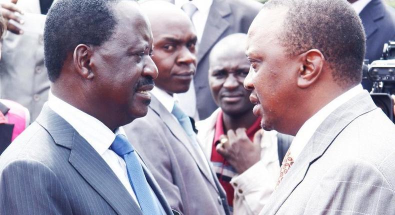 President Uhuru Kenyatta and ODM leader Raila Odinga