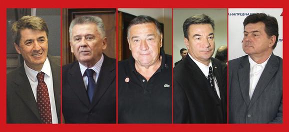 Nepoželjni: Obradović, Ilić, Mrkonjić, Knežević i Pavlović