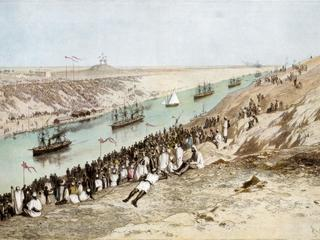The inauguration of the Suez Canal, 17 November 1869, (1900).Artist: Edouard Riou