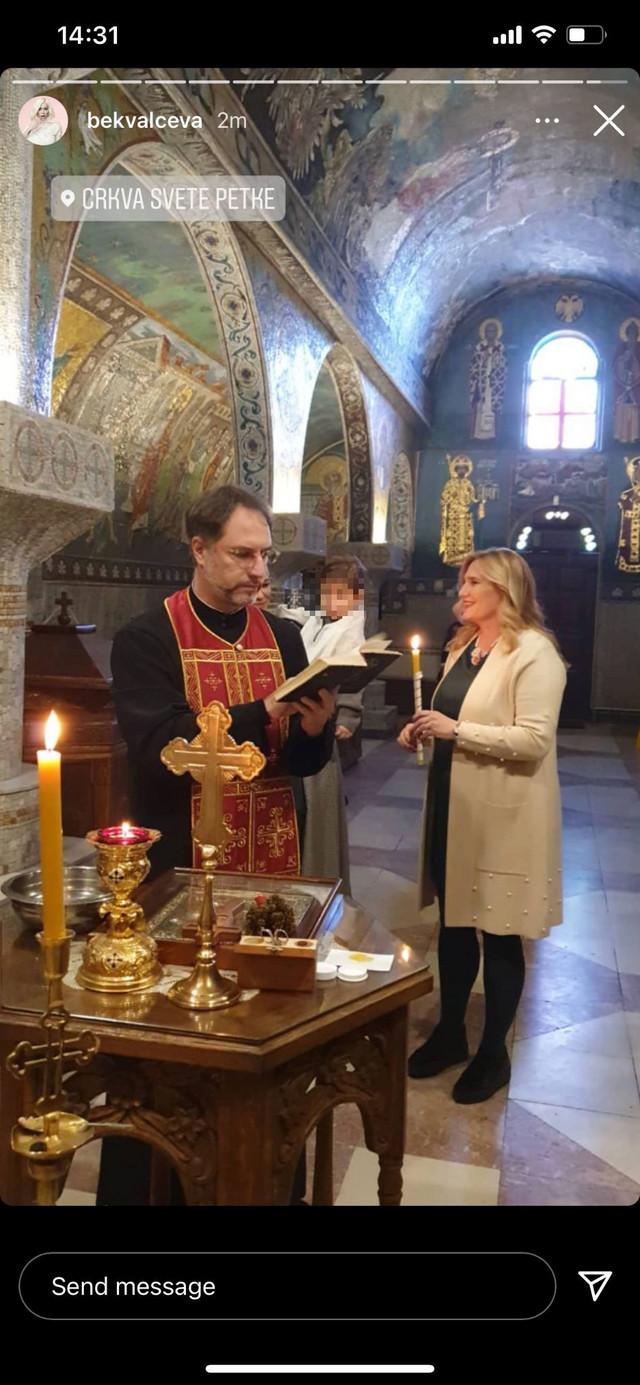 Nataša Bekvalac krštenje ćerke