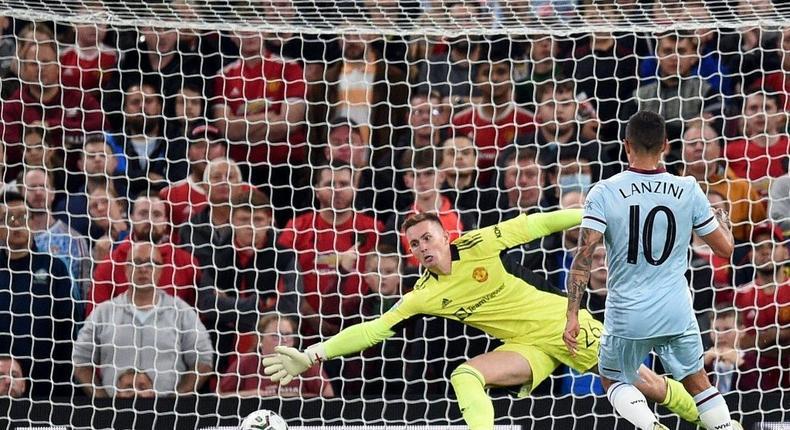 West Ham midfielder Manuel Lanzini scored against Manchester United Creator: Oli SCARFF