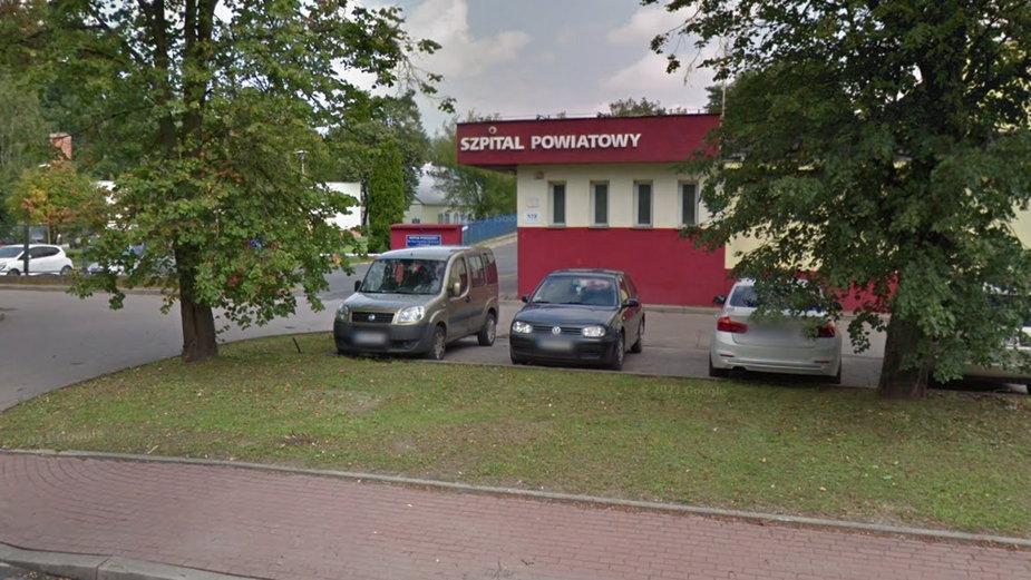 Szpital Powiatowy w Pruszkowie (fot. Google Street View)