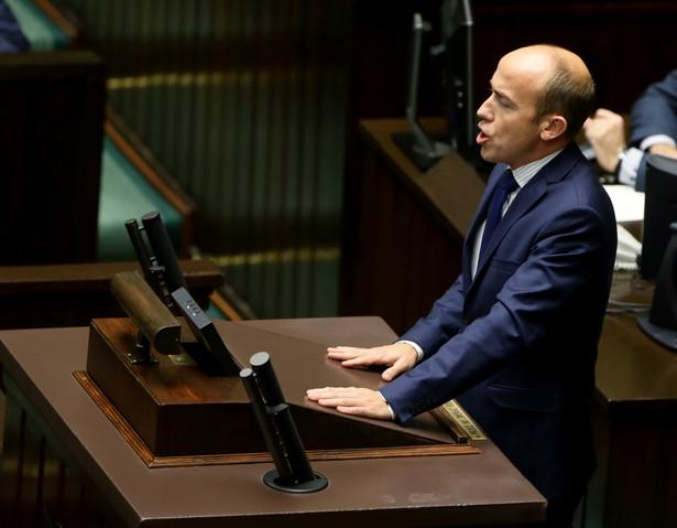 Wiceprzewodniczący PO Borys Budka podczas posiedzenia Sejmu