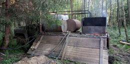 Wielka bimbrownia odkryta w Puszczy Białowieskiej. Te zdjęcia robią wrażenie