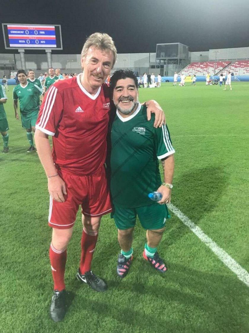 Zbigniew Boniek i Diego Maradona