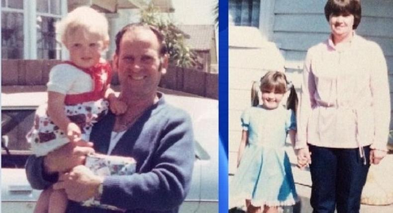 A young Jodi Cahill and her parents