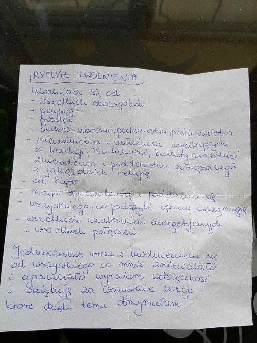 List, o którym opowiada mąż Renaty
