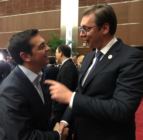 Vučić i Aleksis Cipras