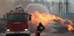 Pożar hałdy śmieci pod Łaskiem