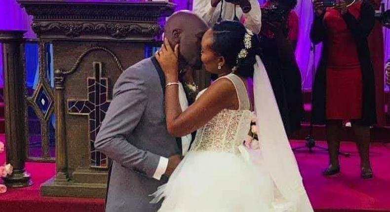Dennis Okari with wife Naomi Joy