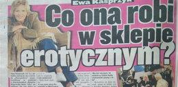Ewa Kasprzyk buszuje w sklepie erotycznym