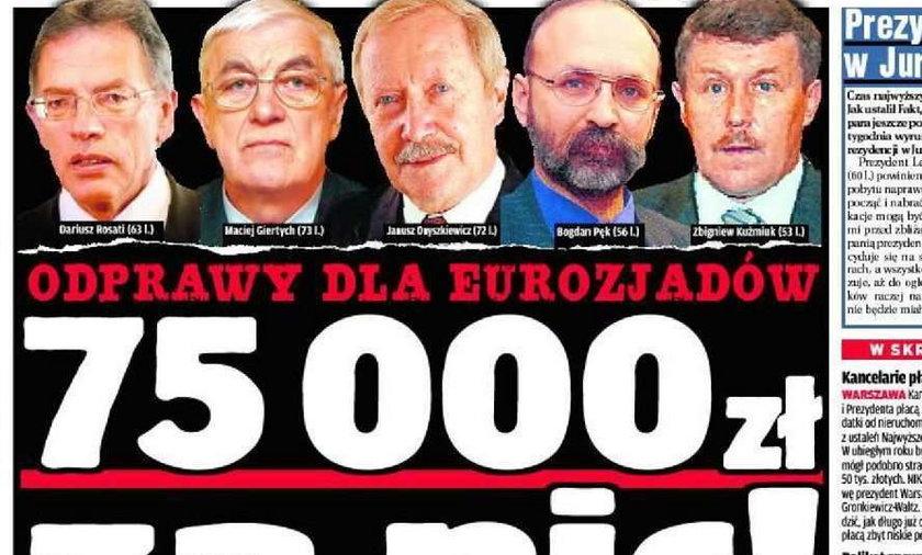 75 000 zł! Odprawa eurozjadów