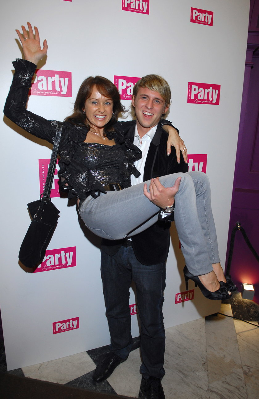 Monika Borys z synem