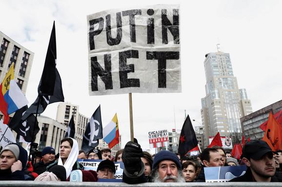 Protesti u Moskvi 10. marta zbog zakona o Runetu
