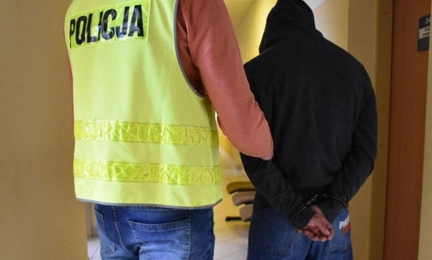 Podejrzany 20-latek szybko trafił w ręce policjantów