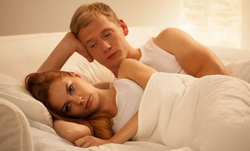 para, łóżko, ilustracja