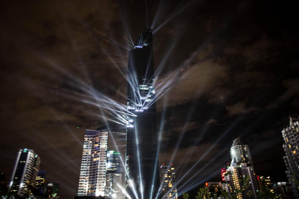 Official opening of the 'Pixel Tower' skyscraper in Thailand