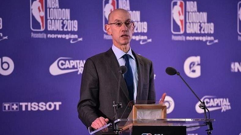 NBA commissioner Adam Silver announced the collaboration on Saturday, February 16. (AFP)
