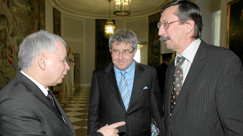 Jarosław Kaczyński, Ryszard Czarnecki i Jan Żaryn