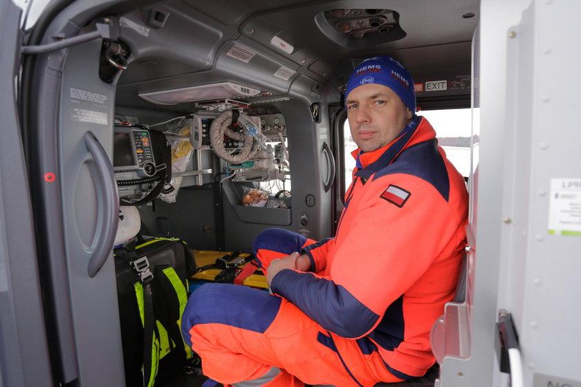 Michał Słomian (37 l.), ratownik medyczny