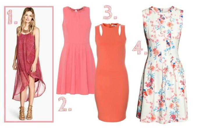 b4aff041c49b9 MODNE i TANIE sukienki na wiosnę w ciepłych kolorach + kwiatowe printy