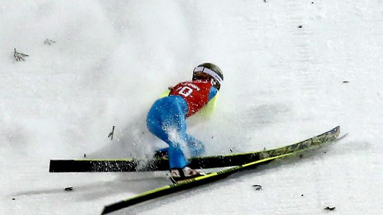 Kamil Stoch upadł podczas treningu w Soczi